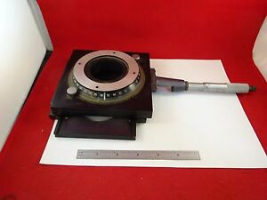 Microscope Part Positioning Rotation Micrometer Stage As Is Bin f8