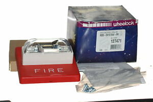 Nib Wheelock Rss 241575w fr Wall Strobe Red 24 Vdc 127471