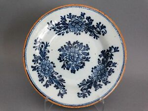 Antique 18th Century Dutch Delft Plate The Hatchet Mark