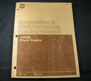 Cat Caterpillar 3406b Truck Engine Operation Maintenance Management Manual