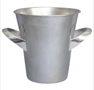 English Art Deco Silver Wine Cooler Ice Bucket Circa 1930