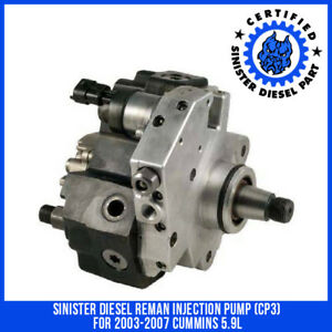 Sinister Diesel Reman Injection Pump Cp3 For 2003 2007 Cummins 5 9l