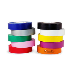 Tapessupply 10 Rolls Pack General Purpose Electrical Tape Rainbow 3 4 X 66 Ft