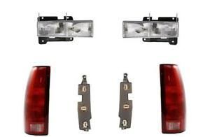 Headlights And Tail Lights For Chevy Gmc Truck 88 98 Suburban 92 99 With Boards