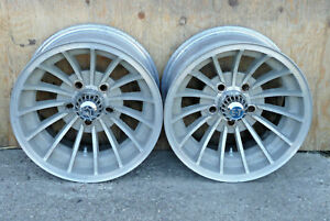 2 Vintage 15 X 7 5 Cyclone Hurricane Et Mag Wheels 15 Spoke Unilug 5 On 4 5 Usa