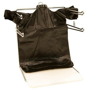1000 Black Plastic T shirt Bags Grocery Shopping Carry Out Bag Recyclable