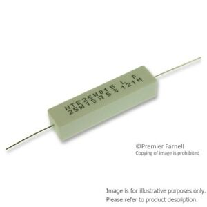 50 X Nte Electronics 25w015 Wirewound Resistor 15ohm 25w 5 Axial Leaded