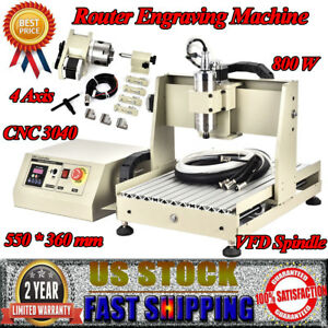 3040t Cnc Router 4axis Engraver 3d Engraving Cutter Desktop Ball Screw 800w Vfd
