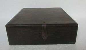 Vintage Old Hand Carved Wooden Unique Shape Merchant Money Chest Box