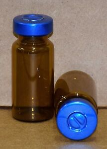 10 Ml Amber Sterile Vial With Blue Center Tear Seal Qty 50