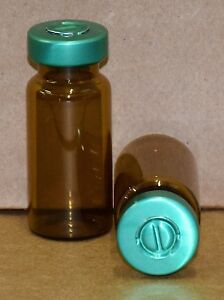 10 Ml Amber Sterile Vial With Green Center Tear Seal Qty 25