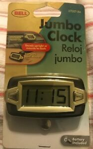 Bell Automotive 22 1 37007 8 Jumbo Lcd Clock New