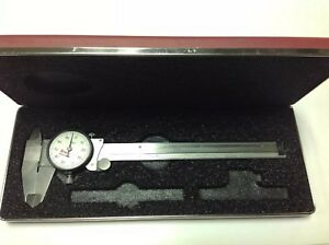 Starrett No 120a Pre owned 0 6 Stainless Steel Caliper W White Face 125