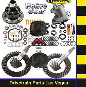 Motive Dana 35 30 Gear Set Pkg Kit 4 11 Detroit Truetrac Posi Grip Pro Covers