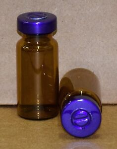 10 Ml Amber Sterile Vial With Purple Center Tear Seal Qty 50
