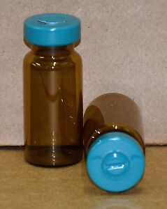 10 Ml Amber Sterile Vial With Turquoise Center Tear Seal Qty 25