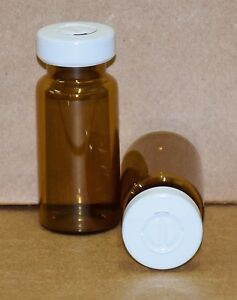 10 Ml Amber Sterile Vial With White Center Tear Seal Qty 25