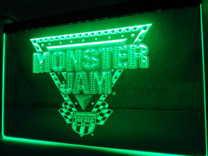 Monster Jam Munster Hot Rod 3d Neon Sign Glowing Luminous Flash Light Lamp Bar