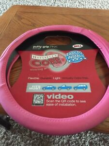 Bell Automotive Products Putty Grip Steering Wheel Cover Pink 97414