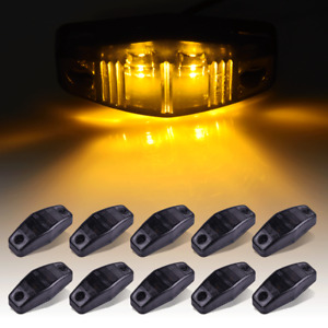 10x 2 5 Led Trailer Side Marker Clearance Lights Amber Smoke Lens Universal