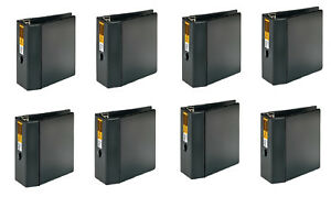 Lot Of 8 New in Place Heavy Duty Reference Binders 5 Capacity Ez D ring