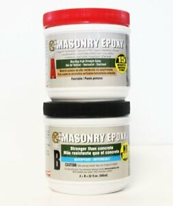 Pc Products Pc masonry Epoxy Adhesive Paste Two part Repair 32oz In Two Jars