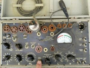 Military I 177 b Electron Tube Tester Free Shipping In Conus