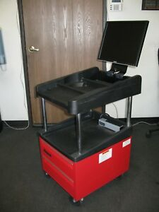 Snap on Modis Utility Cart Model Eekr303 Workstation W Monitor And Keyboard