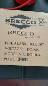 Brecco Fire Alarm Bell 10 With Cover And Sign Dc 24v