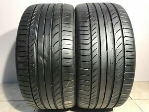 High Tread Used Tires 2 255 35r19 Continental Contisportcontact Ssr