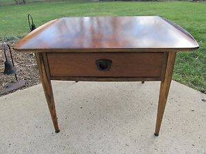 Mid Century Modern End Table By Bassett Restored