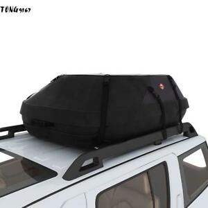Car Cargo Roof Top Carrier Bag Rack Storage Luggage Waterproof Rooftop Black Us