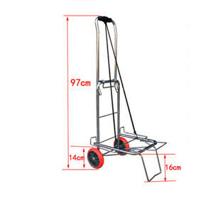 143lb Plating Bearing Folding Trolley Cart Small Trailer Huntinggear Dolly Cart