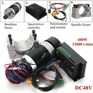 Brushless Spindle Motor 400w Dc Machine Tool Driver Speed Controller And Clamp