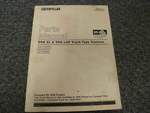 Caterpillar Cat D5g Xl Lgp Track Type Tractor 3046 Engine Parts Catalog Manual
