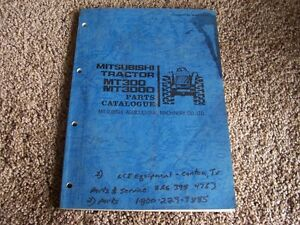 Mitsubishi Mt300 Mt300d Mt 300 D Tractor Factory Original Parts Catalog Manual