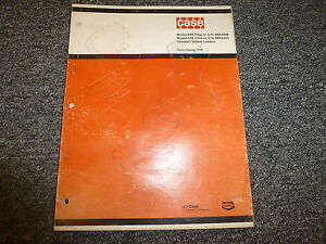 Case 644 646 Compact Wheel Loaders Parts Catalog Manual Manual Book