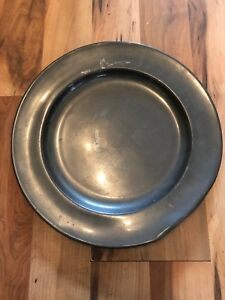 Large Late C18th P D London Pewter Charger