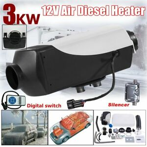 12v 3000w Diesel Air Heater Tank Vent Duct For Motor Boat Bus digital Switch Ns