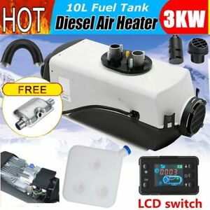 12v 3kw 3000w Diesel Air Heater Tank Vent Duct F Motor Boat Bus lcd Switch Ns
