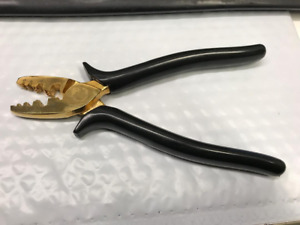 Wbt 0403 Gold Plated Crimping Pliers Germany Very Good Condition See Photo s