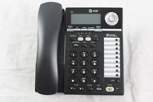 Lot Of 5 At t 993 2 Line Office Business Speakerphones W Handsets Stands