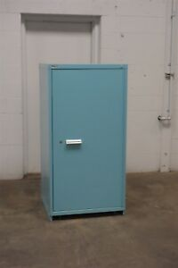 Used Vidmar 2 Shelf Door Cabinet Industrial Tool Parts Storage 1545