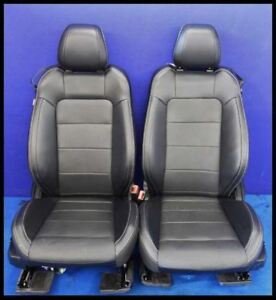 2015 2016 2017 Ford Mustang Gt Front Pair Premium Black Leather Seats Hot Rod