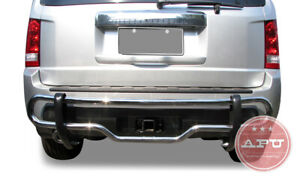 Apu Fits 09 15 Honda Pilot Stainless Rear Bumper Guard Protector Double Tubes