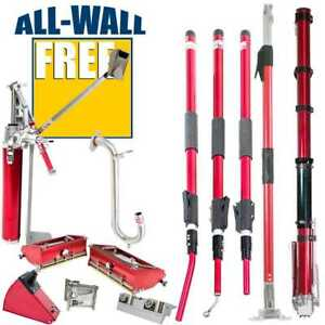 Level5 Drywall Tool Set W extendable Handles Free Nail Spotter