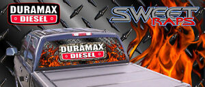 Duramax Rear Window Graphics Chevy Decals Perforated Full Color Custom