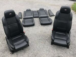 Front Rear Black Leather Sport Seats Door Panels Oem Bmw X6m E71 08 14