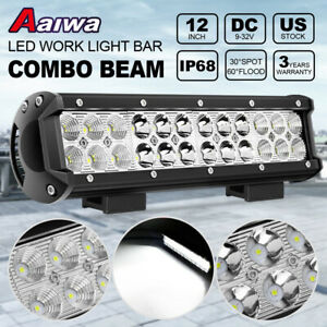 12 Inch 72w Led Work Light Bar Combo Pods Driving Off Road Tractor Ute 12v 24v