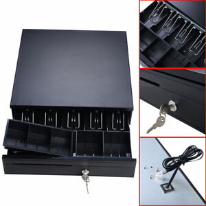 New Pos Cash Drawer W 4 Bill 5 Coin Tray Compatible With Star And Epson Printers